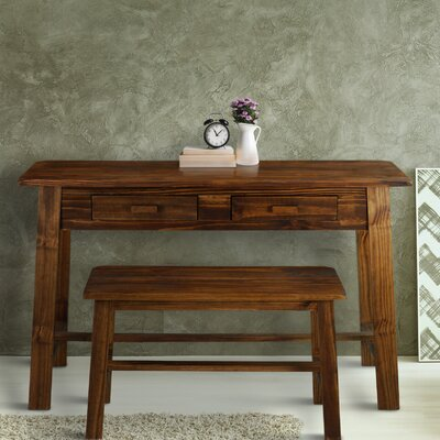 Console Table and Bench Set Color: Mocha