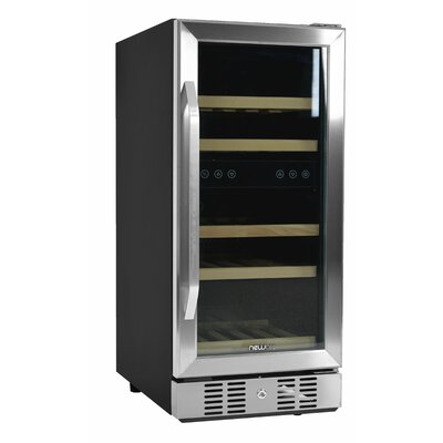 29 Bottle Dual Zone Built-In Wine Cooler Finish: Stainless steel