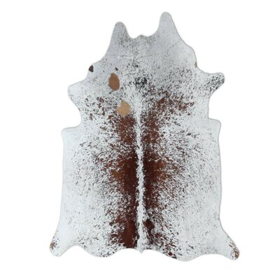 Pure Rugs Natural Cowhide Brown Freckles Area Rug