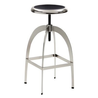 Colby Adjustable Height Bar Stool Upholstery: Black