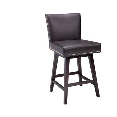 5West Vintage 26'' Swivel Bar Stool Upholstery: Brown