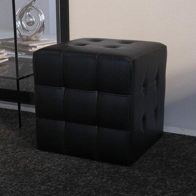 Urban Unity Dario Cube Ottoman Upholstery: Black