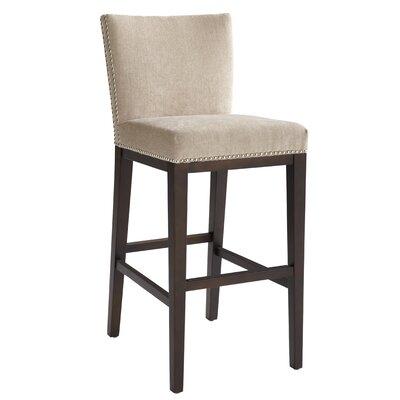 "5West 26"" Vintage Bar Stool Upholstery: Linen"