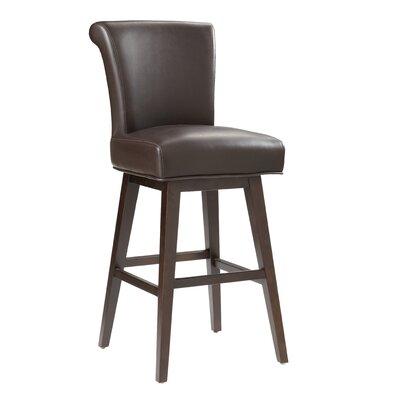 """5West Hamlett 30"""" Swivel Bar Stool Upholstery: Brown"""