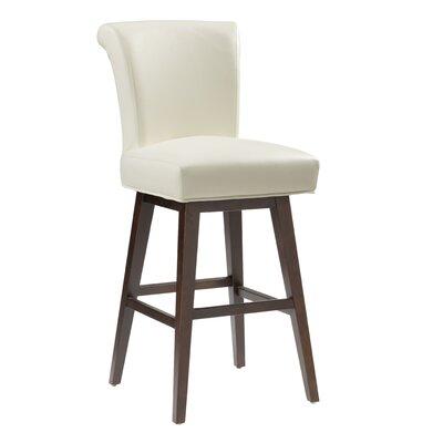 """5West Hamlett 30"""" Swivel Bar Stool Upholstery: Ivory"""