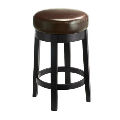 "5West 26"" Cedric Swivel Bar Stool Upholstery: Brown"