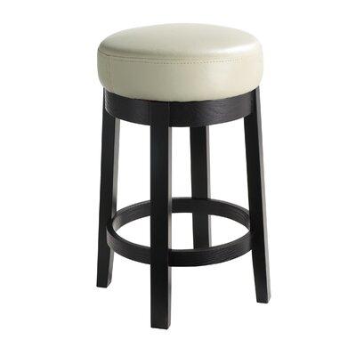 "5West 26"" Cedric Swivel Bar Stool Upholstery: Cream"