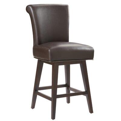 """5West Hamlett 26"""" Swivel Bar Stool Upholstery: Brown"""