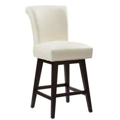 """5West Hamlett 26"""" Swivel Bar Stool Upholstery: Ivory"""