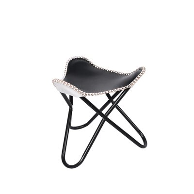 Butterfly Stool Color: Black and White