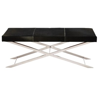 Artisan Leather Bench Color: Black