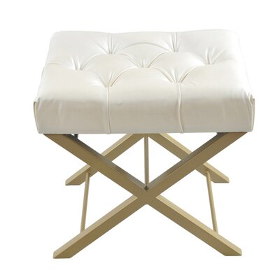 Bonded Faux Leather Cross Stool