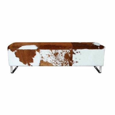 Modernist Upholstered Bench Color: Brown