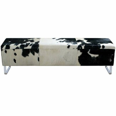 Modernist Upholstered Bench Color: Black