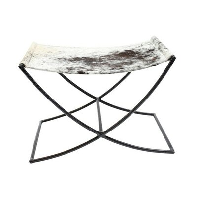 Hide Sled Stool Color: Black