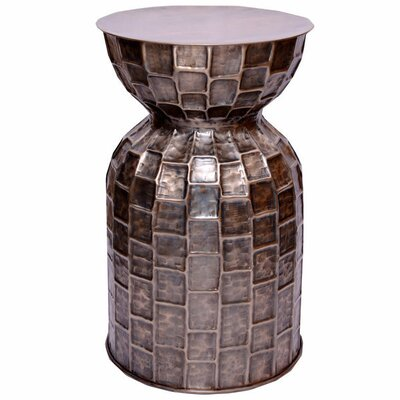 Brick Accent Telephone Table Color: Bronze