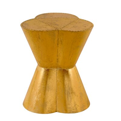 Flower Accent Stool Color: Gold leaf