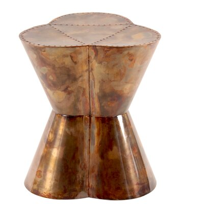 Flower Accent Stool Color: Oxygen copper