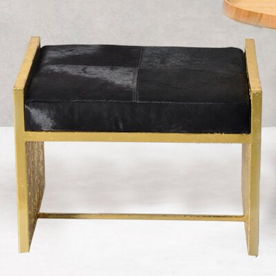 Vanity Stool Upholstery Color: Black
