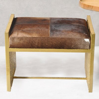 Vanity Stool Upholstery Color: Brown