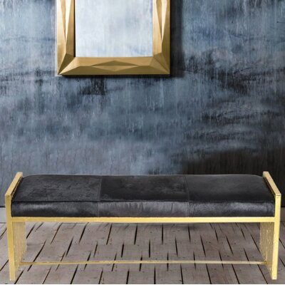 Leather Bench Upholstery Color: Black