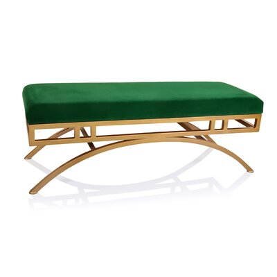 Boston Metal Bench Upholstery Color: Emerald
