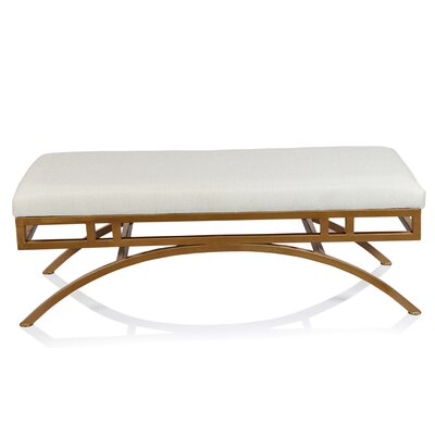 Boston Metal Bench Upholstery Color: White