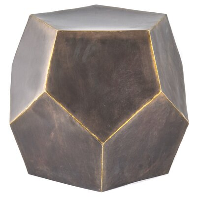 Diamond Decor Stool Color: Bronze