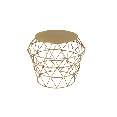 Meet Drum Stool Color: Gold
