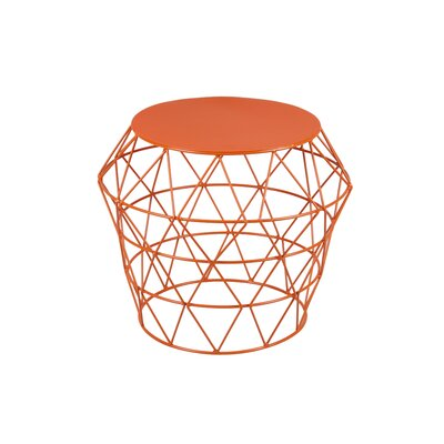 Meet Drum Stool Color: Orange