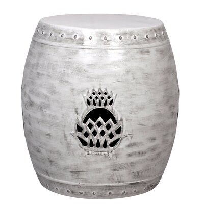 Pineapple Drum Garden Stool Color: Ash Crazy