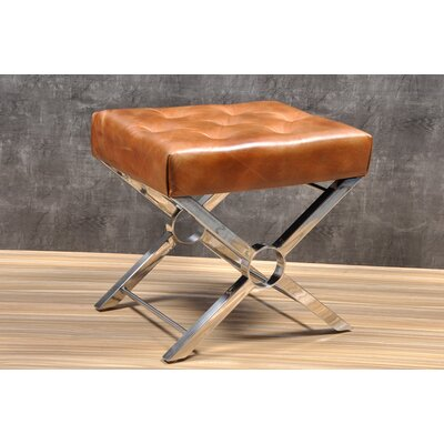 Suresh Accent Stool Color: Brown