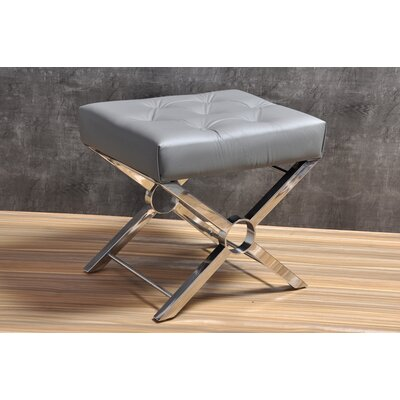 Suresh Accent Stool Color: Gray