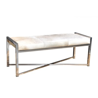 Gideoon Leather Bench Upholstery: Gray