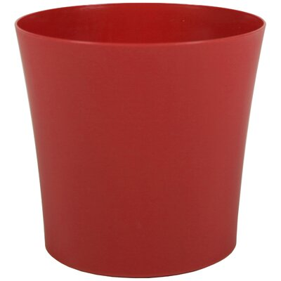 "Leland Plastic Pot Planter (Set of 6) Color: Brick, Size: 7"" H x 7"" W x 7"" D"