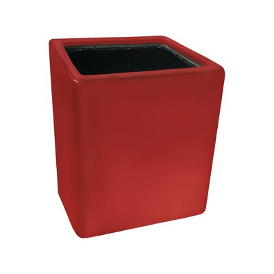Urban Gardening Ceramic Wall Planter Size: Small, Color: Glossy Red