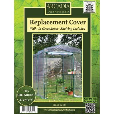 Greenhouse Replacement Cover Size: 1-Sided Walk-in