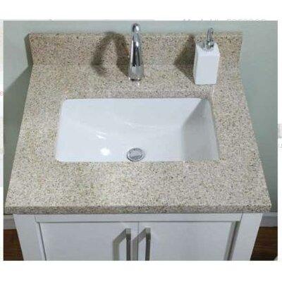 "Euro Granite Single Bathroom Vanity Top Finish: Golden Peach, Size: 31"" x 22"" for 30"" Vanities, Bowl Configuration: No Bowl"