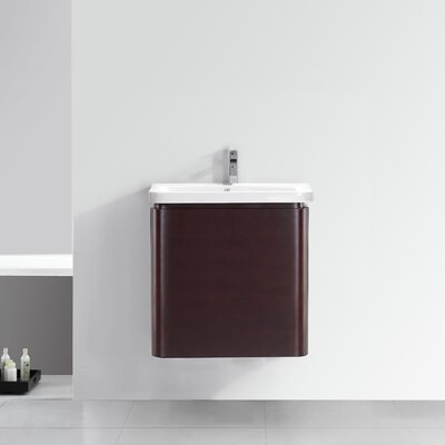 "24"" Single Wall-Hung 2 Drawer Vanity Set"