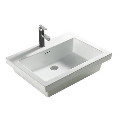 "Tribeca 21"" Single Bathroom Vanity Top Faucet Mount: 1 Hole"