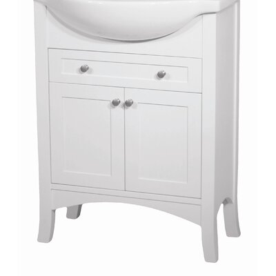 "Petite Empress 20"" Bathroom Vanity Base Width: 20"", Base Finish: White"