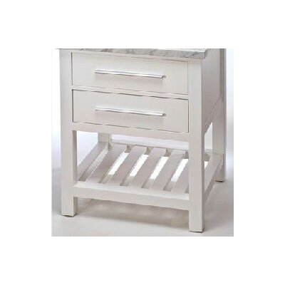 "Priva 24"" Single Bathroom Vanity Base Base Finish: White"