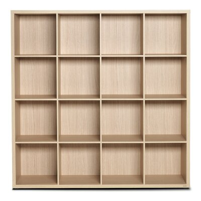 """Bestar Clic Furniture 4 Row and 4 Column Thick Framed 56.24"""" Cube Unit Bookcase"""