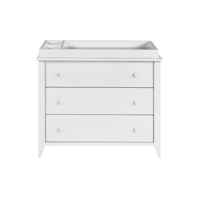 Sprout 3-Drawer Changer Dresser Color: White