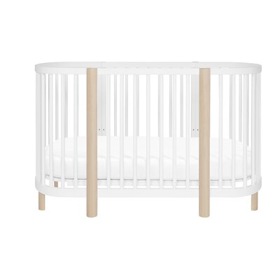 Hula 3-in-1 Convertible Crib Color: White/Washed Natural