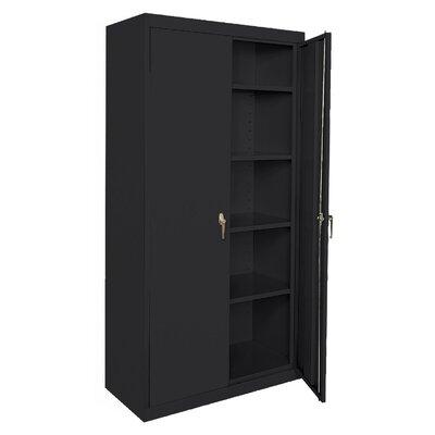 Deluxe 2 Door Storage Cabinet Color: Black