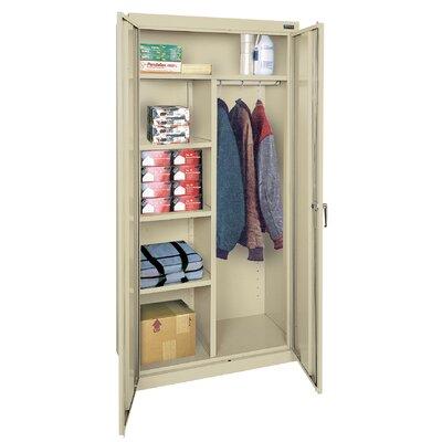 "Classic Plus 72""H x 36""W x 24""D 2 Door Storage Cabinet Color: Putty"