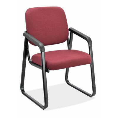 Value Sled Base Guest Chair Seat Color: Port Fabric, Arm: No