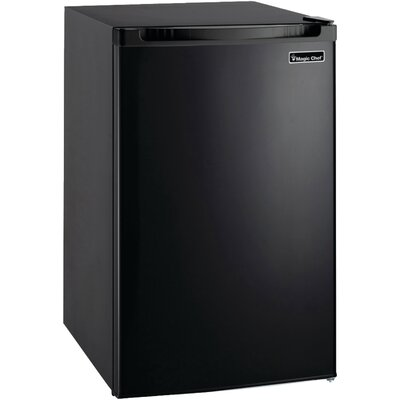 4.4 cu. ft. Compact Refrigerator with Freezer Finish: Black