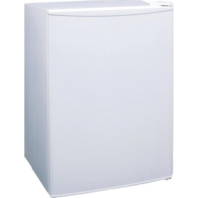 2.4 cu. ft. Compact Refrigerator with Freezer Finish: White